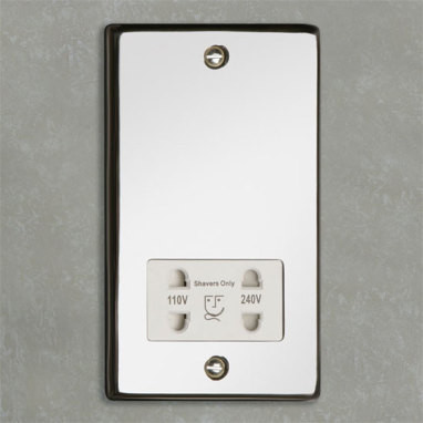 HIB - Shaver Socket - Chrome