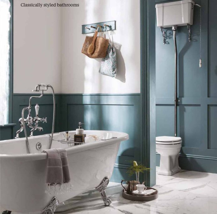 Classically Styled Bathrooms by Burlington
