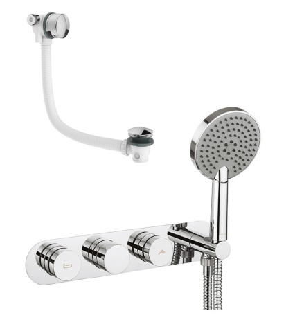Dial bath valve 2 control with Central trim from Crosswater