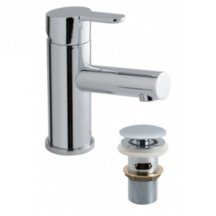 Vado Sense SEN-100/CC Chrome Plated Mono Basin Mixer with Clic-clac Waste